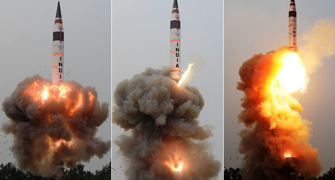 India successfully test-fires Agni 5 ICBM