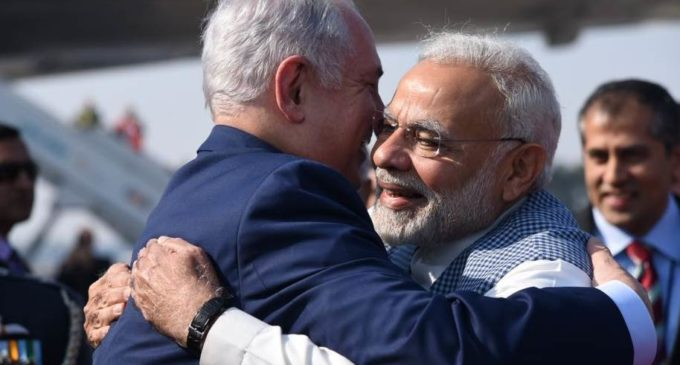 Despite Congress taunt, Modi, Netanyahu hug each other again