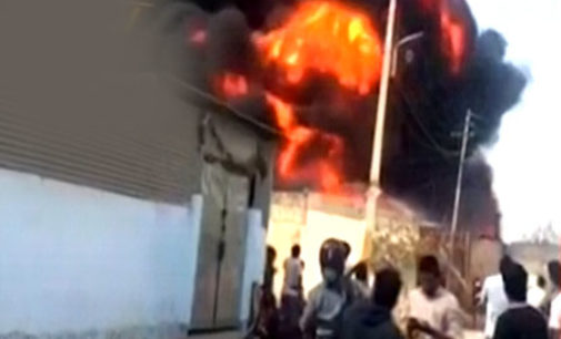 Thieves try to pilfer petrol from tanker, cause major fire mishap on Hyderabad outskirts