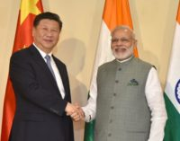Chinese president xi and Narendra Modi meet.