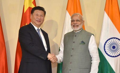 Chinese president xi and Narendra Modi meet.