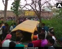 13 school children killed in bus-train crash in Uttar Pradesh
