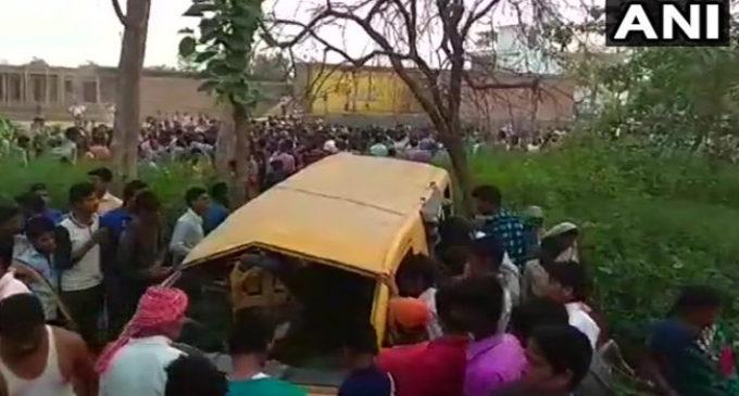 13 school children killed in bus-train crash in Uttar Pradesh