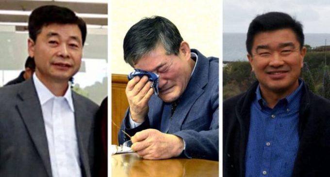 North Korea frees three U.S. detainees