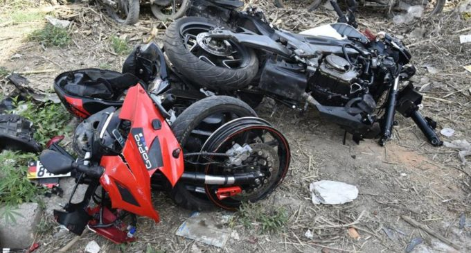 Two bikes collision  in Pune
