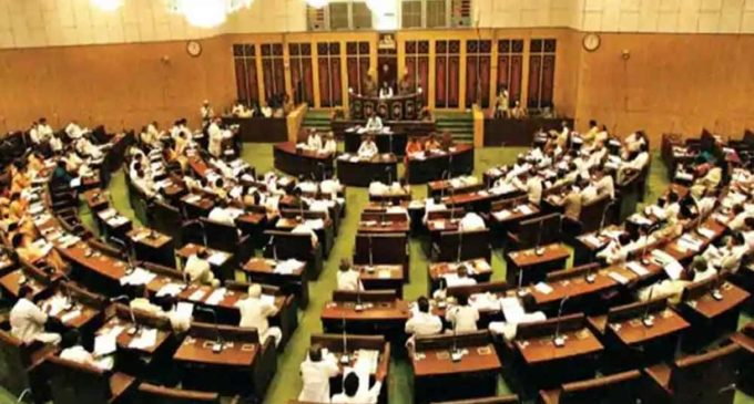 Chandrababu can sit dictate Assembly ?