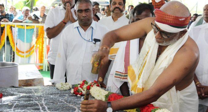 Amaravathi temple Srivari statue works commenced