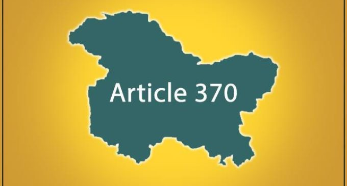 Article 370 scrapped without constitutional amendment