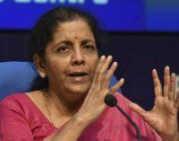 Sitaraman declares merger of 12 banks into four