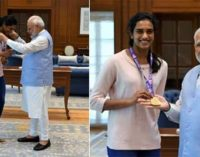 Sindhu, India's Pride , says PM Modi bht Jagan ignores her