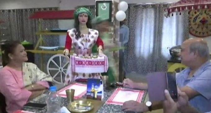 Robot waitress at Assam Restro