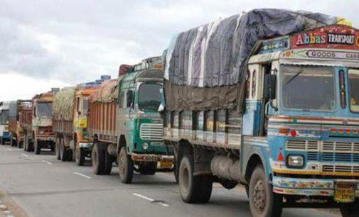 Lorry Strike Against Traffic fines