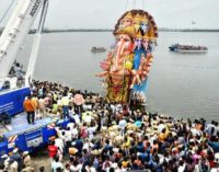 Record 55,000 Ganesh idols immersed.