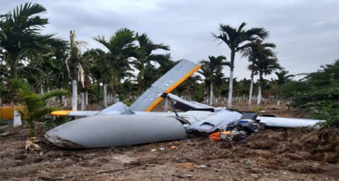 DRDO drone  Rustom 2 Collision