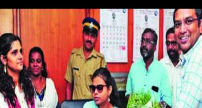 India's first semi blind IAS officer in Kerala