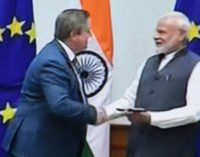 Modi showcasing nirmal Kashmir to EU leaders