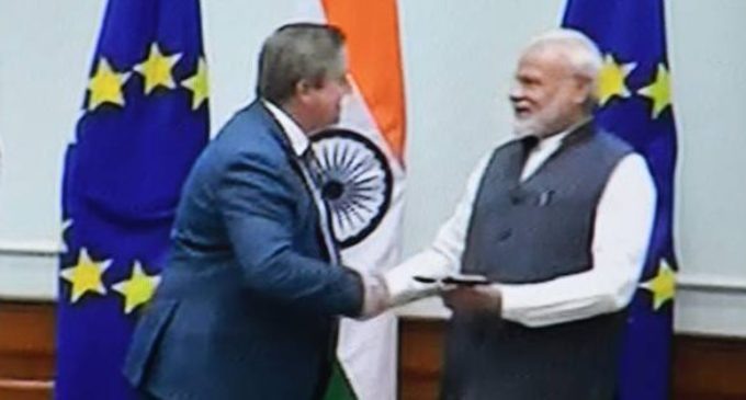 Modi showcasing nirmal Kashmir to EU leaders