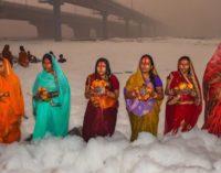 og mars Chhat Puja fervour in Delhi